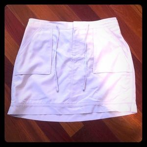White House Black Market beige mini skirt size 12